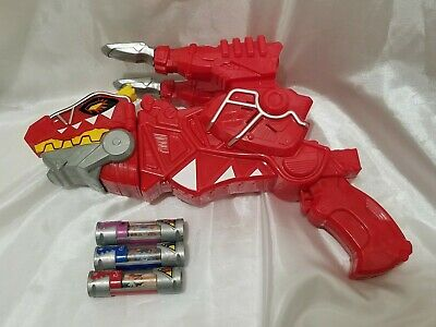 Power Rangers Dino Super Charge Red T-Rex Gun Morpher Blaster with Dino Chargers