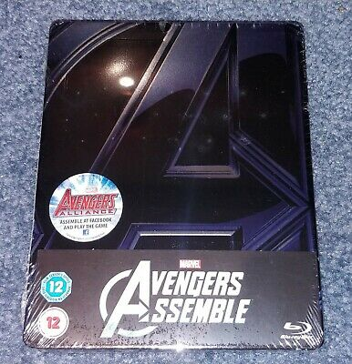 The Avengers Assemble UK Bluray Steelbook Factory Sealed