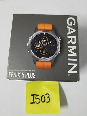 Garmin Fenix 5 Plus 47mm Sapphire Multisport Gps Watch Black Black