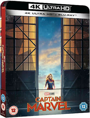 Captain Marvel (4K UHD + 2D Blu-ray Steelbook) NEW / SEALED - ZAVVI UK - PRE-ORD