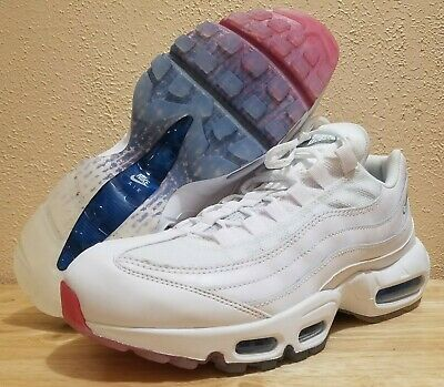 8f0c21ffb1 Nike Air Max 95 Running Shoes 4th Of July White Glacier Blue Size 9 AQ7981-