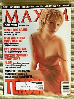 MAXIM MAGAZINE ISSUE #20 July / August 1999 ~ COVER: Michelle Williams
