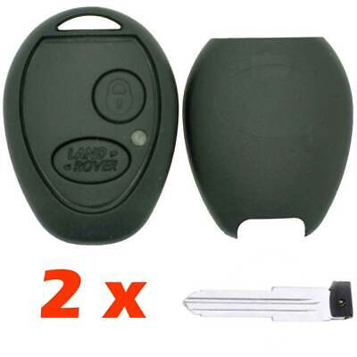2 x Land Rover Discovery 2 TD4 TD5 2 Button Replacement Car Key Fob Casing