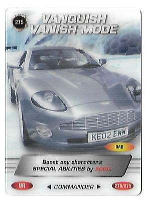James Bond Commander Ultra Rare 3D 275_275 Vanquish Vanish Card - B.B.C MAGAZINE