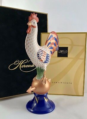 """Herend Limited Edition 14"""" Tall Rooster Chicken Weathervane Comes With Box!!!!"""