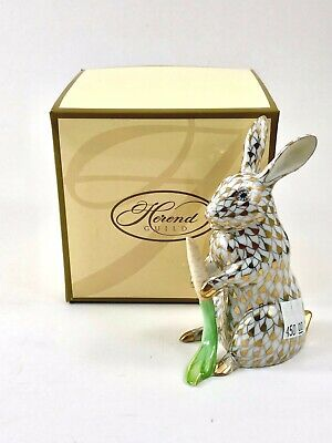 HEREND Garden Bunny 2005 LIMITED EDITION GOLD GUILD FISHNET!! RARE MINT PIECE!!