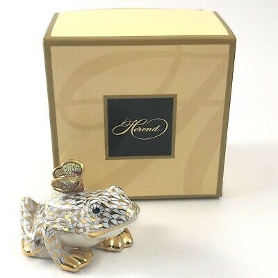 Herend Frog and Butterfly 2009 Gold Guild Fishnet MEMBERS ONLY EDITION!!!