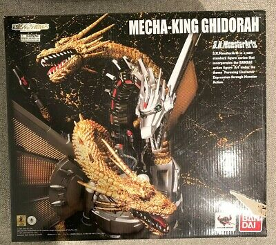 Bandai SH S.H. Monsterarts Mecha King Ghidorah Figure Pre-Owned