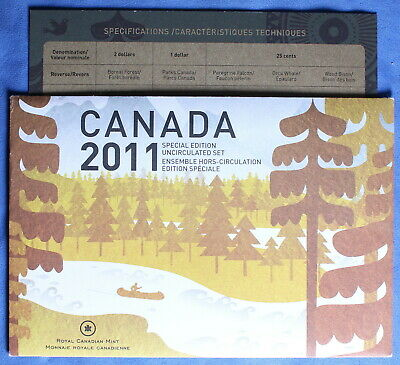 Canada 2011- Special Edition Mint Set - Parks Canada -Toonie,Loonie , 6 Quarters