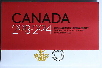 Canada 2013 - 2014 - Special Edition Mint Set - 4 quarters,1 loonie and 1 toonie
