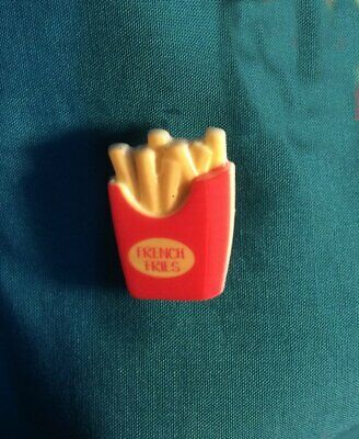 Cute FRENCH FRIES Potatoes Potato Take Out Food Holey Clog Shoe Charms Charm