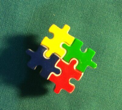 Cute AUTISM AWARENESS Colorful Puzzle Piece Holey Clog Shoe Charms Charm