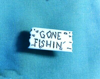 Cute Blue GONE FISHING SIGN Hunting Fisherman Croc Accessories Shoe Charm