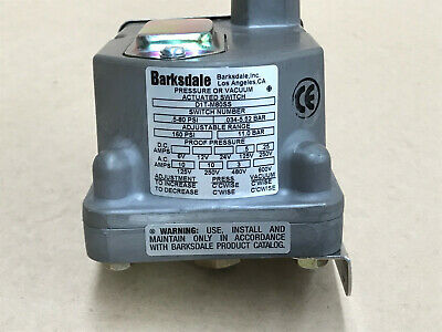 BARKSDALE PRESSURE ACTUATED SWITCH D1T-M80SS 160 PSI 11 Bar