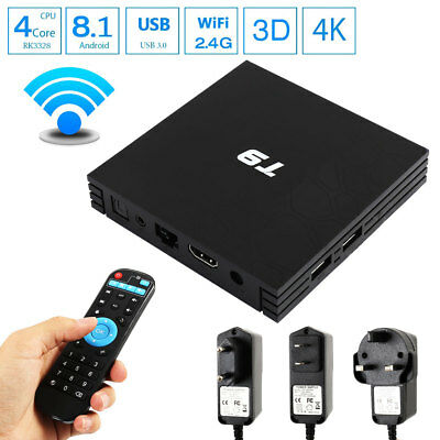 T9 Android 8.1 TV Box 4GB + 32GB Quad Core USB 3.0 4K WiFi HDMI Bluetooth HD CA