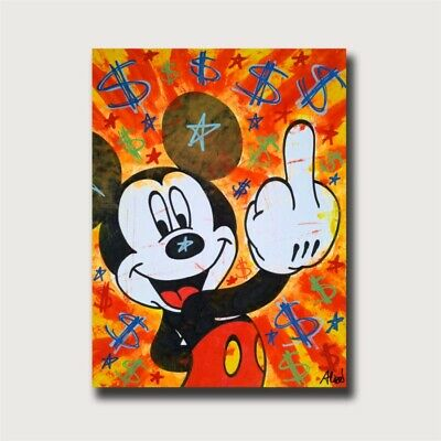 Alec Monopoly Mickey Home Decor Room HD Canvas Print Wall Art Painting 24x32inch