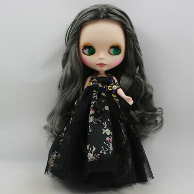 Blythe Nude Doll from Factory Matte Face Grandma Ashes Wave Curly Hair