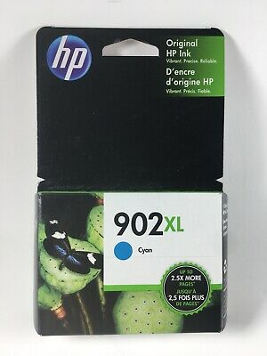 NEW HP 902XL - Cyan - High Yield Ink Cartridge Genuine OEM Expires 2020