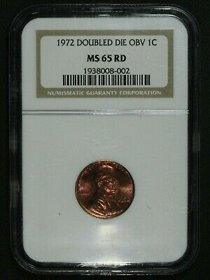 1972 Doubled Die Obverse DDO FS 101 Lincoln Memorial Cent NGC MS 65 RD