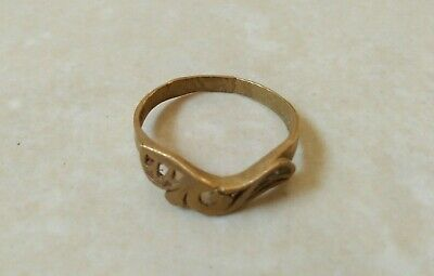 extremely ancient roman antique rare old ring bronze artifact quality