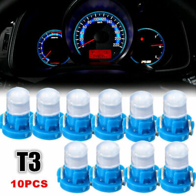 10 x T3 Neo Wedge LED Bulb Instrument Dash Dashboard Gauge Base Bright Light NEW