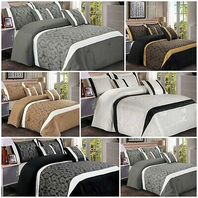 Double King Size Comforter Set Bedspread Quilted Throw With Pillow Shams