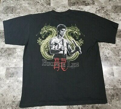 Bruce Lee Shirt Vintage Bruce Lee Dragon Graphic T shirt Martial Arts Shirt XL