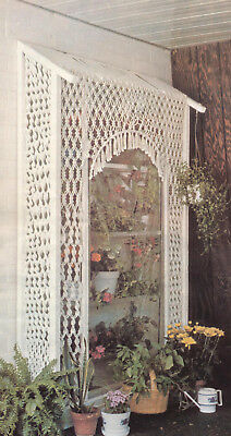 Make This Macrame Window Greenhouse For Your Patio - Pattern Only In Pdf Format