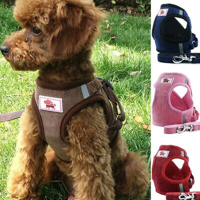 Non Pull Dog Harness Adjustable Soft Padded Vest Small Medium Mesh Jacket S-L AS