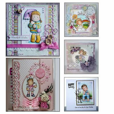 Clear Decorative Lovely Girl Transparent Stamp Silicone Rubber Scrapbooking