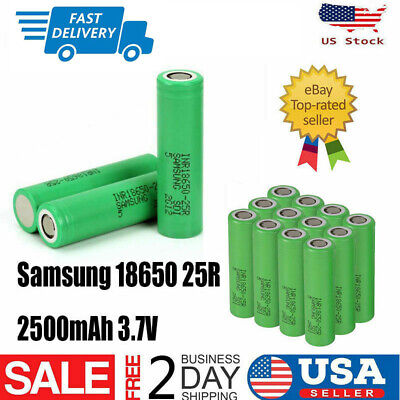 18650 Samsung-2500mAh 35A Rechargeable Battery for Vape1 Mod Free Case USA