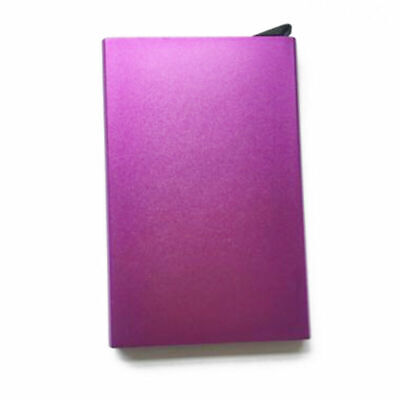 Unisex Automatic Aluminum Alloy ID Credit Card Holder Protector Wallet Case NEW