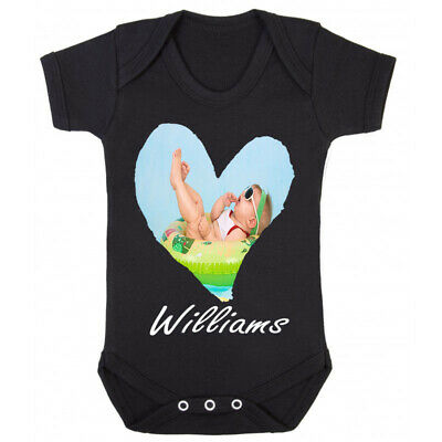 Personalised Baby Vest Grow Custom Funny Any Name Baby Shower Gift Boys Girls
