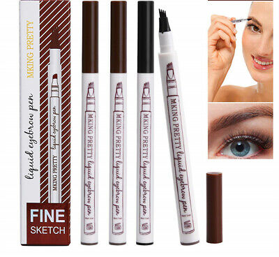Microblading 3D Tattoo Eyebrow Tint Ink Fork Tip Pen 4 Colour Waterproof UK