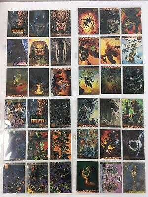 Lot 16 Alien Vs Predator Topps Trading Cards X 72 Cards 1994 Collectible