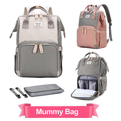 Baby Diaper Nappy Mummy Changing Bag Backpack Set Hospital Multi-Function Large