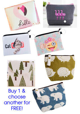 NEW Buy 1 Get 1 Free! Coin Purses, 31 Designs ADD 2 TO BASKET FOR OFFER TO APPLY