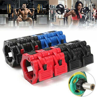 1Pcs Olympic Barbell Collar Clips Clamp Weight Bar Locks Weightlifting