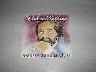 Richard Anthony 45 Tours France Barriere Generations