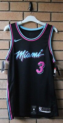check out 5cc8f 245f3 BNWT MIAMI HEAT DWYANE WADE NIKE MEN'S CITY EDITION VICE NBA JERSEY LARGE  or 48