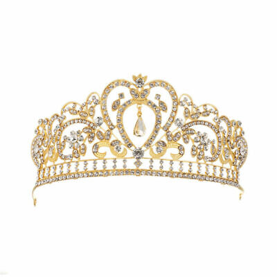 Rhinestone Crystal Queen Crown Wedding Princess Headband Crowns Tiaras 2 Colors