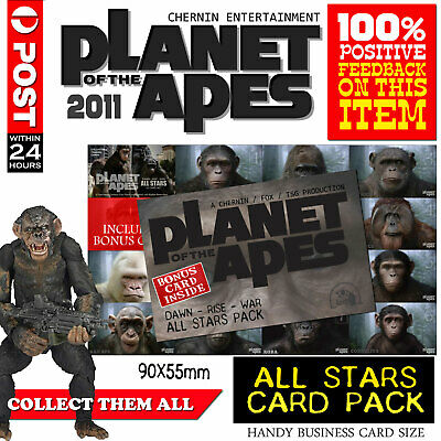 Planet of the Apes 2011 - All Stars collectible cards. Complete set. Sealed.