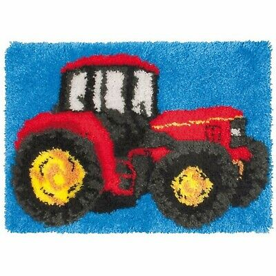 BIG RED TRACTOR LATCH HOOK RUG KIT, BRAND NEW from UK SELLER