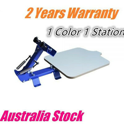 1 Color 1 Station Manual Silk Screen Printing Press for T shirt Australia Stock