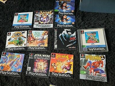 Lot Notice jeux video console ps1 playstation 1