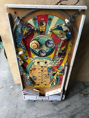 Chicago coin pinball playfield