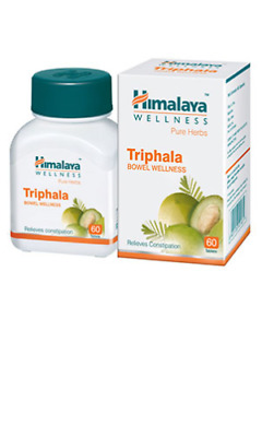 Himalaya Healthcare Wellness Triphala Pure Herbs 60 Tabs Relieves Constipation