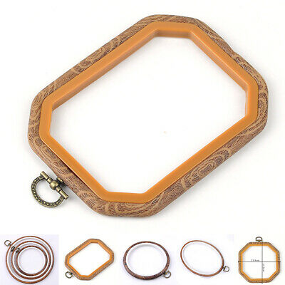 8-Size Wood Frame Embroidery Hoop Ring Round Loop Cross Stitch Sewing Hand/Tools