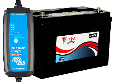 100AH Lithium Battery With 12/7 Victron Energy Charger Deal