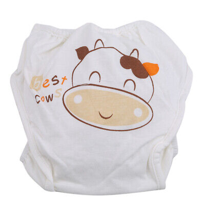 Baby Outgoing Portable Diaper Nappy Cover Cow Print Soft Diapers Pocket  N7
